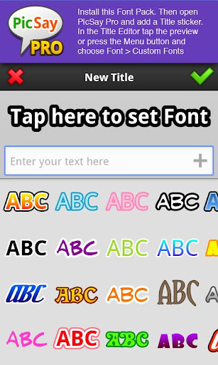 PicSay Pro Font Pack - A  Wallpaper 2