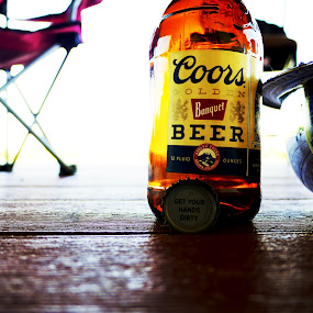 Staying refreshed by Seth Parkinson - Food & Drink Alcohol & Drinks ( chair, bowl, beer, close up, coors )
