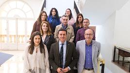 Funcionarios que han tomado posesión con representantes de la Diputación.