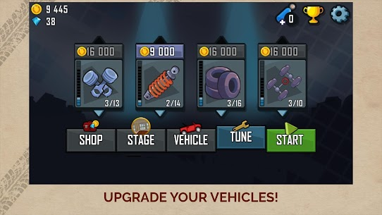 Hill Climb Racing APK MOD (Diamonds / Infinite Money)  v1.46.6 3