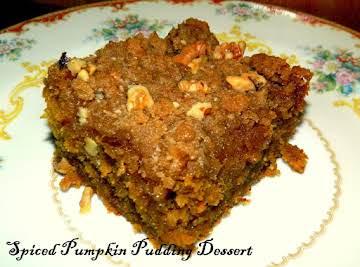 Spiced Pumpkin Pudding Dessert