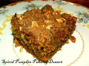 Spiced Pumpkin Pudding Dessert