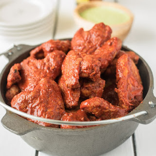 Baked Adobo Chicken Wings.