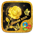 Golden Rose Parallax Go Launcher Theme apk