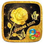 Golden Rose Parallax Go Launcher Theme Icon