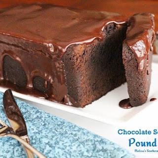 Chocolate Sour Cream Pound Cake.