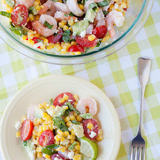 Corn, Tomato, and Avocado Salad with Shrimp