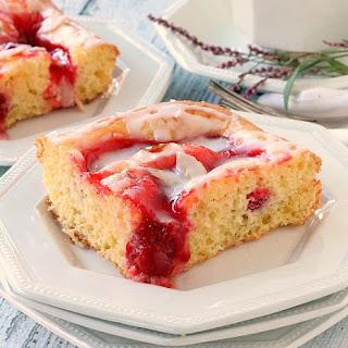Glazed Cherry Coffee Cake.