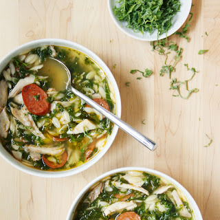 Chicken, Kale, and Orzo Soup