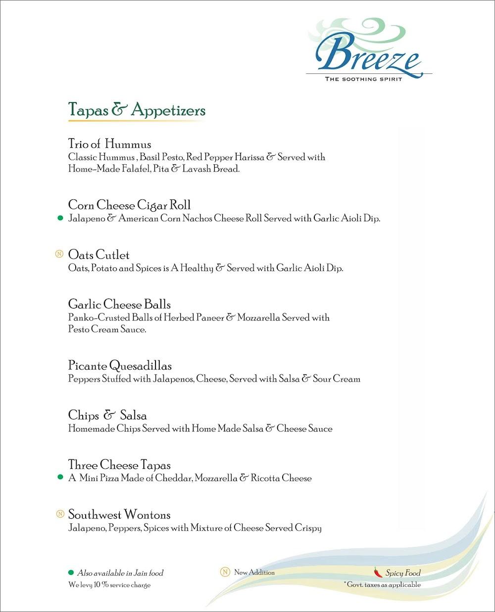 Breeze Lounge menu 7