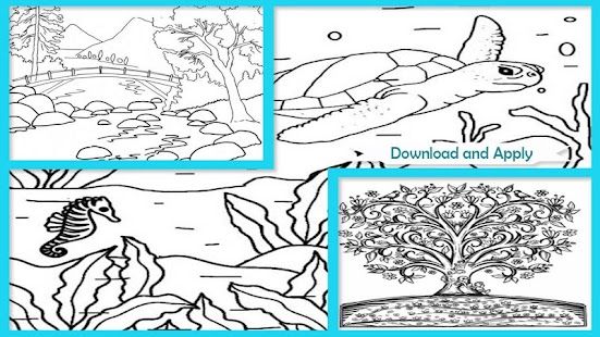 amazing nature coloring books screenshot thumbnail - Nature Coloring Book