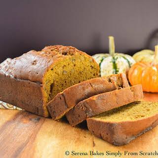 Moist Pumpkin Bread.