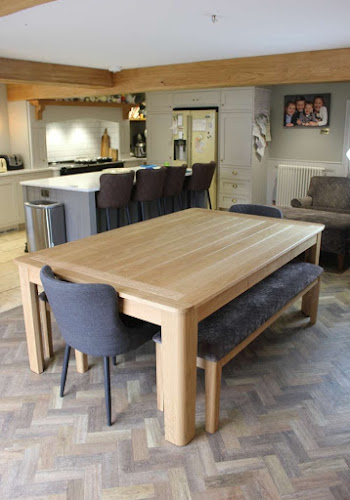 Oak Pool / Dining Table in Modern Kitchen