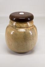"Photo: Stephen Price 7"" x 6"" Beads of Courage box [maple, walnut, bead]"