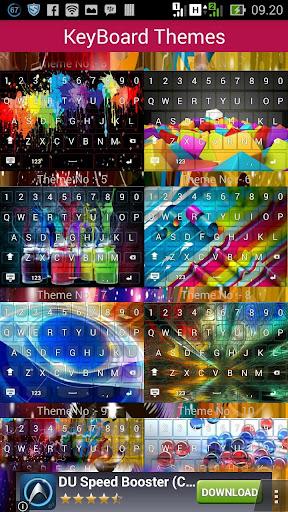 3D Colour keyboard theme
