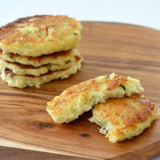 Cheese and Cauliflower Fritters