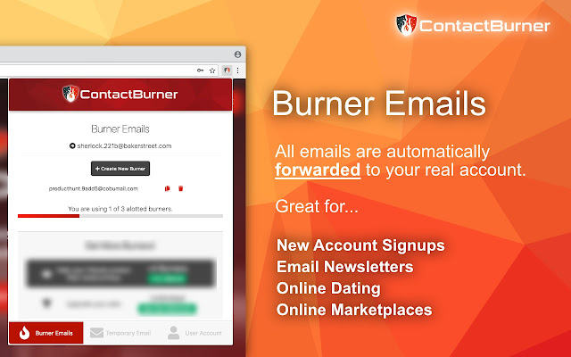 Contact Burner - Disposable Email Manager