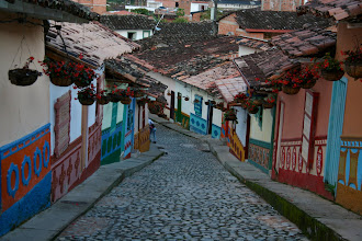 Photo: The town of Guatapé is known for its beautifully decorated homes and cobblestone streets.