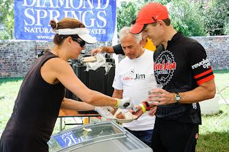 Photo: Liz Keith serves up ice cream