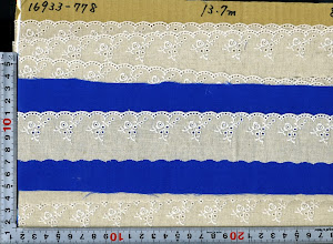 Photo: №16933-138(778) 綿50麻50レース:巾40mm