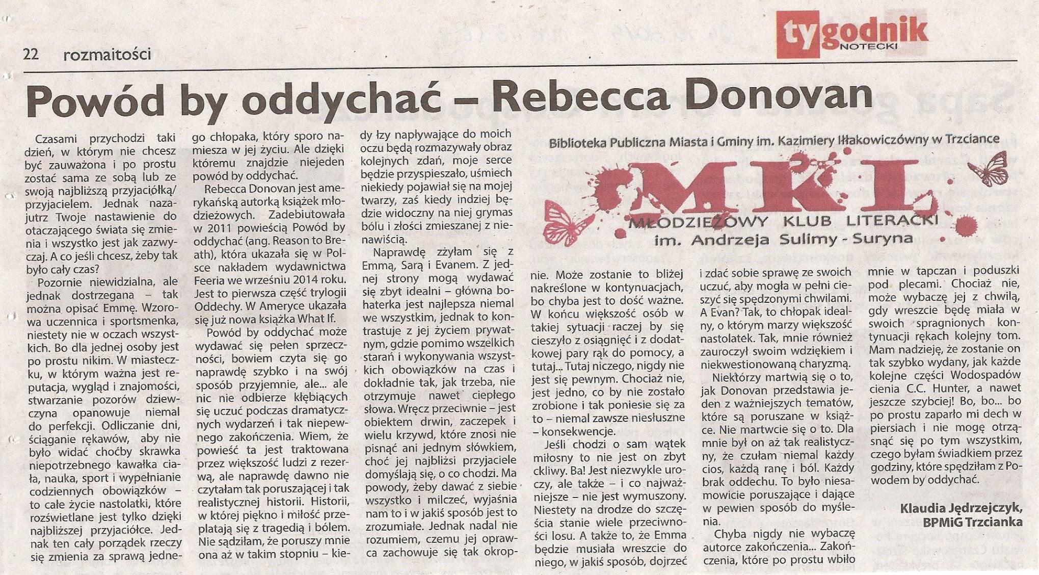 Photo: http://szeptksiazek.blogspot.com/2014/10/powod-by-oddychac-rebecca-donovan.html