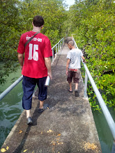 Photo: Anda gives Dan and I a tour of his fishing village