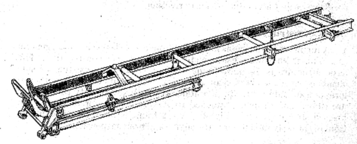 Heavy lorry chassis frame