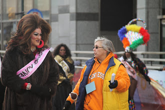 "Photo: Terri Kerwawich, Program Director, leads a member of the ""Miss Fancy"" Brigade"
