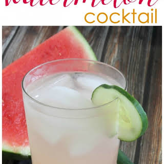 Cucumber Watermelon Cocktail.
