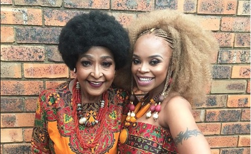Ma Winnie with Zoleka at her graduation earlier this year.