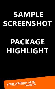 Sample app List - náhled