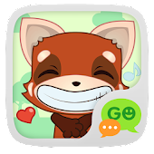 (FREE) GO SMS RED FOX STICKER