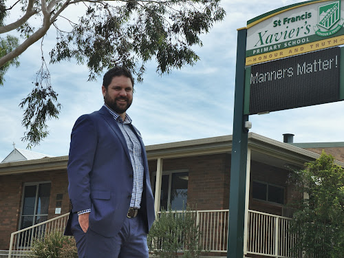 REINFORCING THE MESSAGE: Michael Ball is the new principal of St Francis Xavier's School.