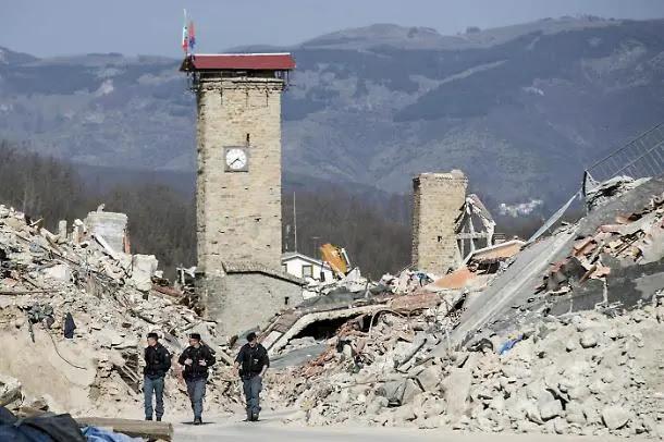 イタリア中部地震アマトリーチェ被災