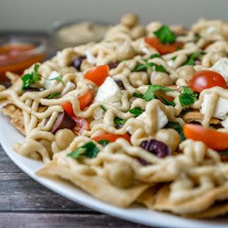 Mediterranean Pita & Chickpeas Nachos