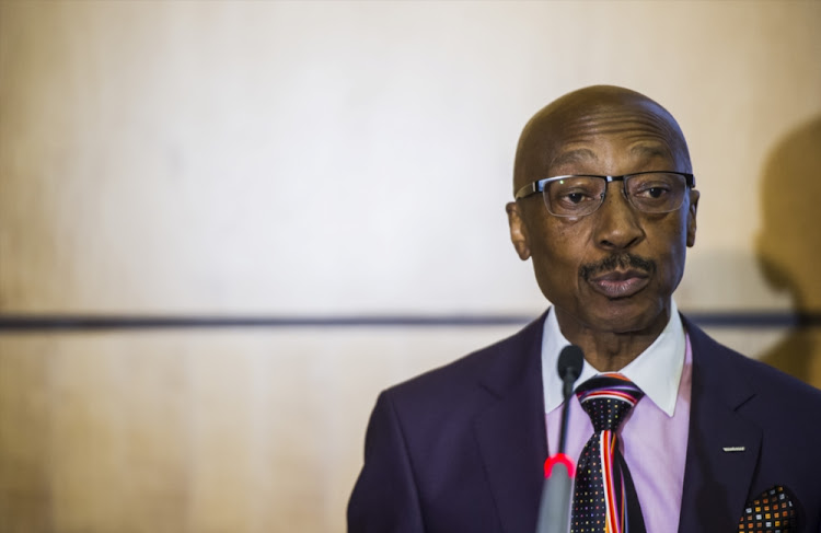 South African Revenue Services (SARS) commissioner Tom Moyane during the revenue's preliminary collection results announcement on April 03, 2017 in Pretoria.