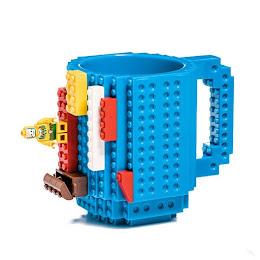 Cana cu piese lego, pentru copii, 350 ml, plastic