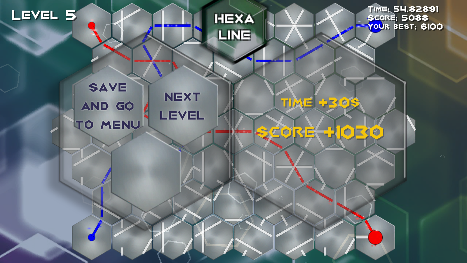 HexaLine - HARD ARCADE / PUZZLE GAME- screenshot