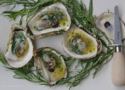 """Click Here for Recipe: Grilled Oysters with Tarragon Butter """"Oysters are a..."""