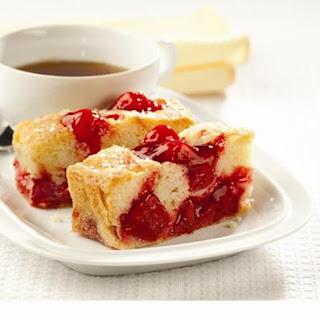 Sweet Vanilla Cherry Cake.