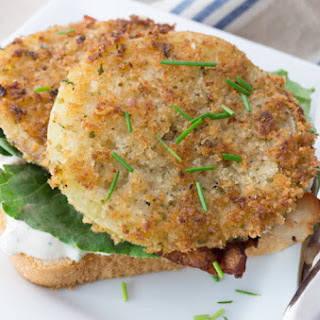 Fried Green Tomatoes with Dipping Sauce.