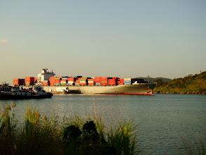 Photo: #003-Les Panamax sur le lac Gatun au Panama