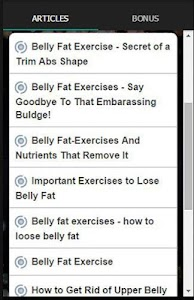 Exercises To Lose Belly Fat screenshot 2