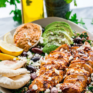 Chicken Shawarma Tabbouleh Salad.