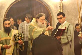 Photo: Молитва от чина за възвеждане в игуменски сан.