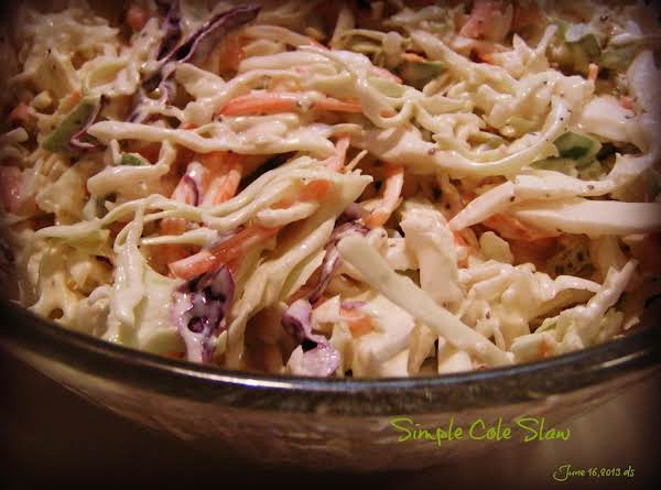 Simple Tangy Cole Slaw Recipe