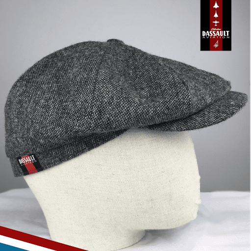 casquette-eclair-tweed-barnstormer-made-in-france GRISE