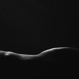 Lines Of Light by Abhishek Mandal - Nudes & Boudoir Artistic Nude ( view, woman, bodyscape, below, flat, back, nude, front, naked, body, tags )