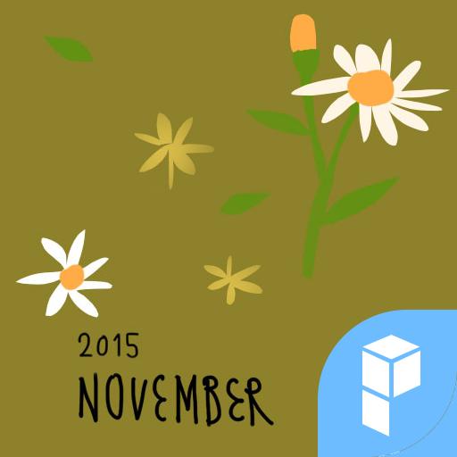 拉拉感性日历十一月_菊花香 桌面主题 個人化 App LOGO-硬是要APP