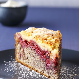 Slice of Cherry and Poppy Seed Cake